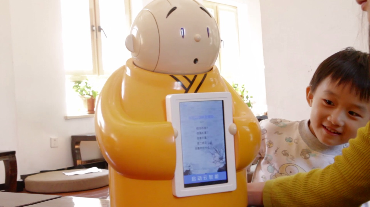 Animation and robotics makes Buddhism more approachable for children