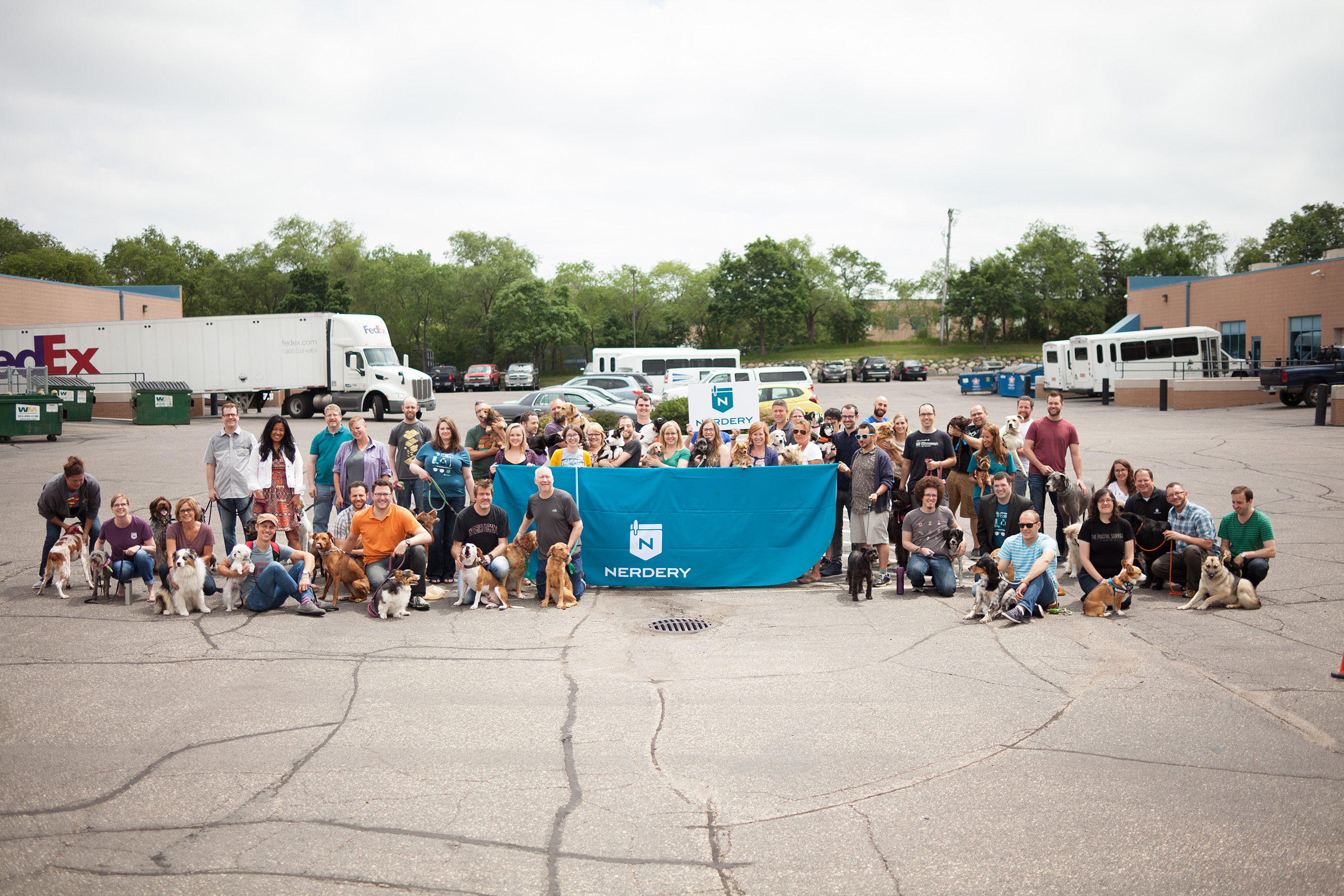 The Nerdery partnered with Purina to celebrate #petsatwork by encouraging employees to bring their pet to work in attempt to help break the world record for Most Pets in the Workplace in One Day