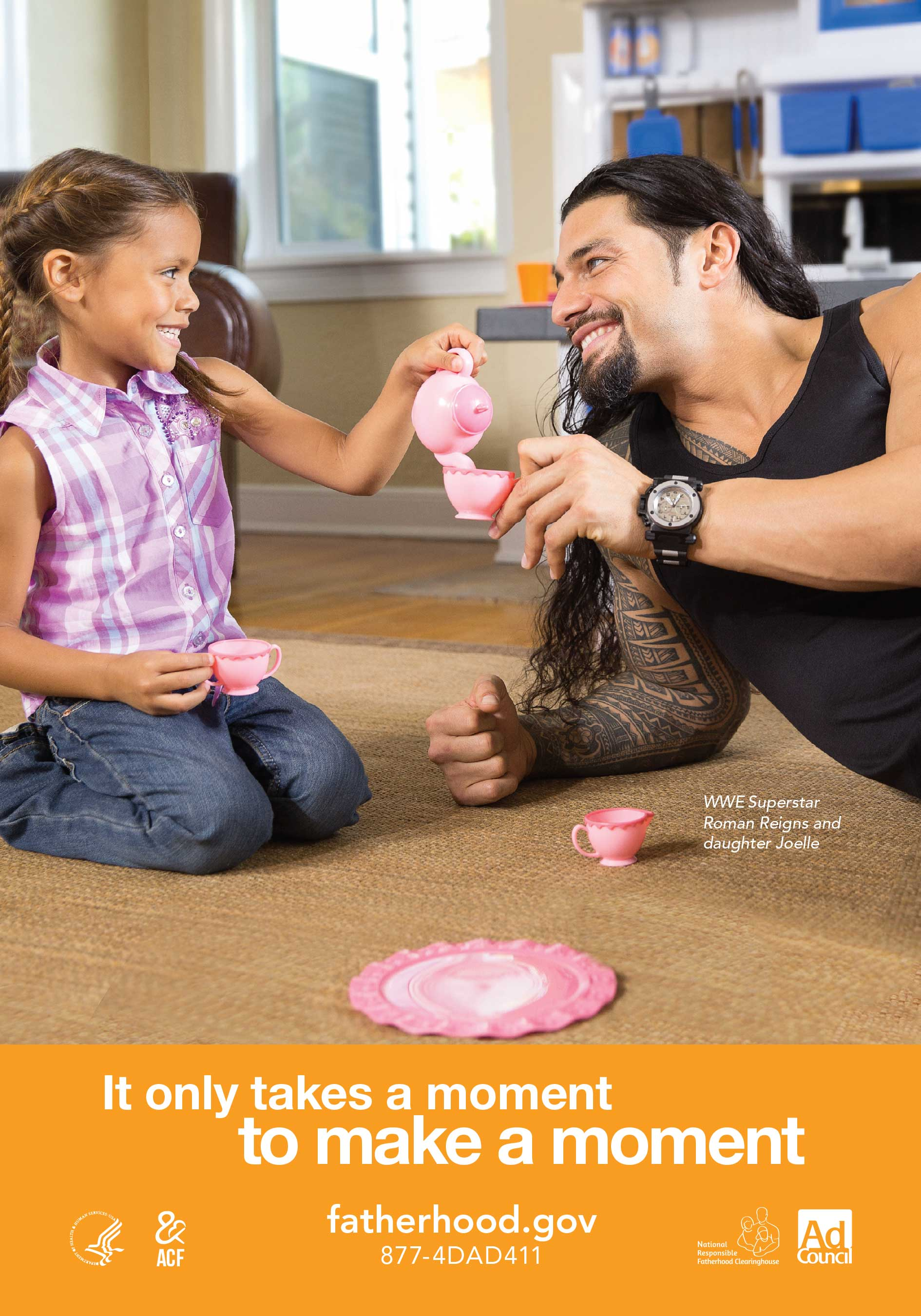 WWE Superstar Roman Reigns and daughter Joelle