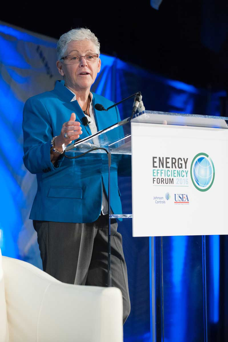 Gina McCarthy discussed how improvements and increased awareness of energy efficiency is paying off for the consumer, supplier, and more.