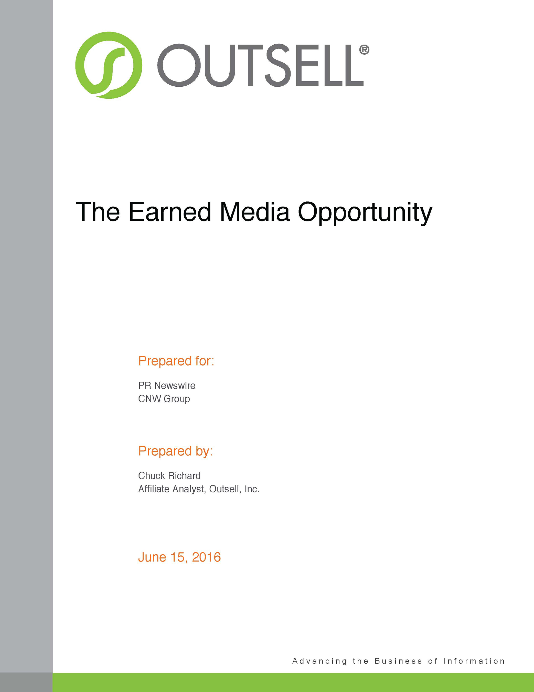 Research from Outsell reveals untapped potential for earned media as part of the marketing mix.