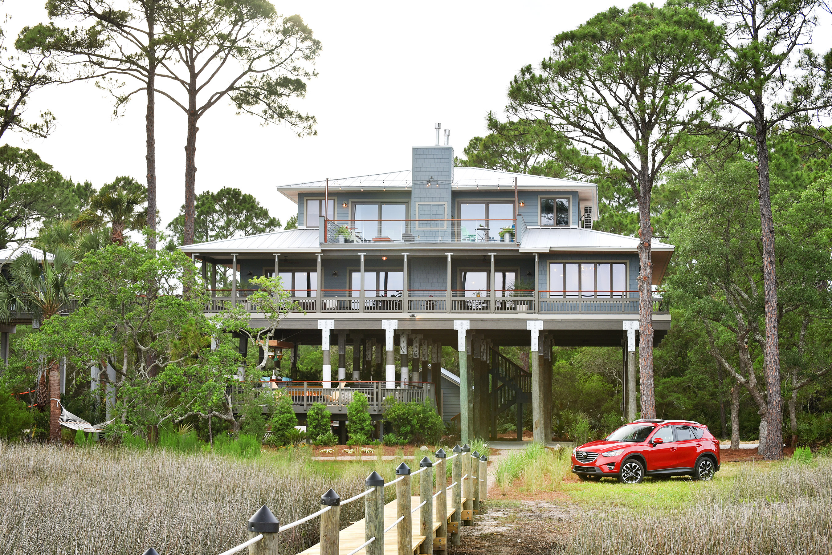 The 10th anniversary of the DIY Network Blog Cabin 2016 is a show-stopping remodel of a spacious waterfront home in Panacea, Florida. The grand prize giveaway includes the fully furnished home, $50,000 provided by national mortgage lender Quicken Loans® and a 2016 Mazda CX-5.