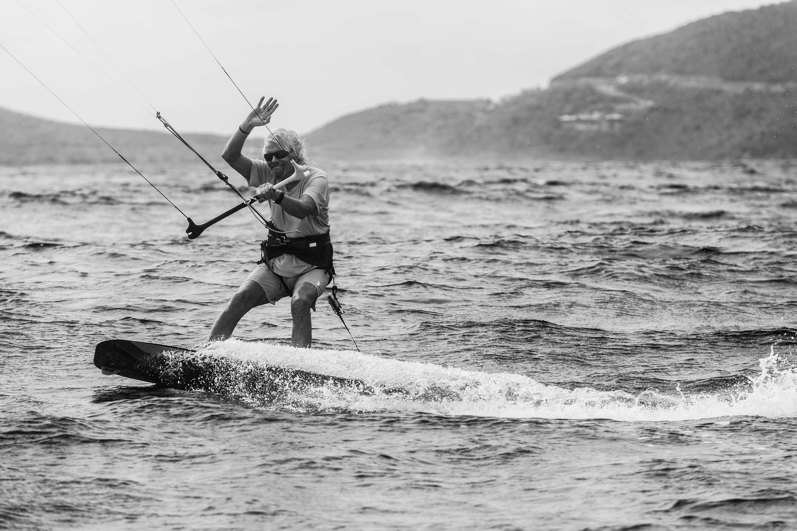 There isn't a single kiteboarder who's made as great an impact on the world as Richard Branson. He's gained worldwide acclaim for his success in business and loves to shred at his private island.