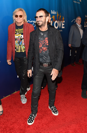 Ringo Starr and Joe Walsh at The Beatles LOVE by Cirque du Soleil 10th Anniversary Celebration
