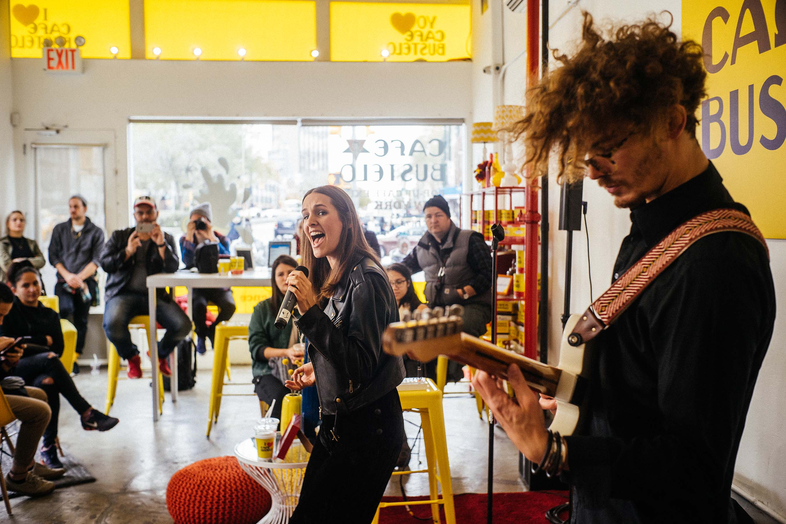 Communities can gather at pop-up cafés to celebrate life with free music, free Wi-Fi and flavorful Café Bustelo Coffee.
