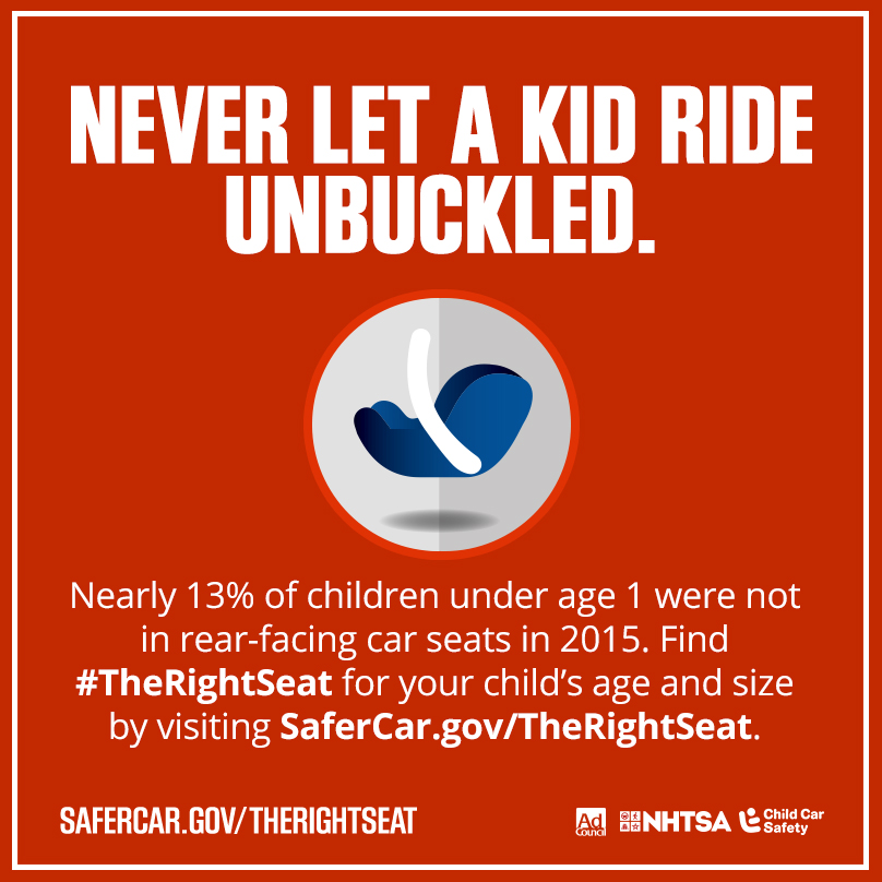 NHTSA Highlights Seat Belts and Car Seats during Child Penger ...