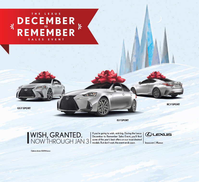 Awesome Lexus December Sales Event Print Campaign