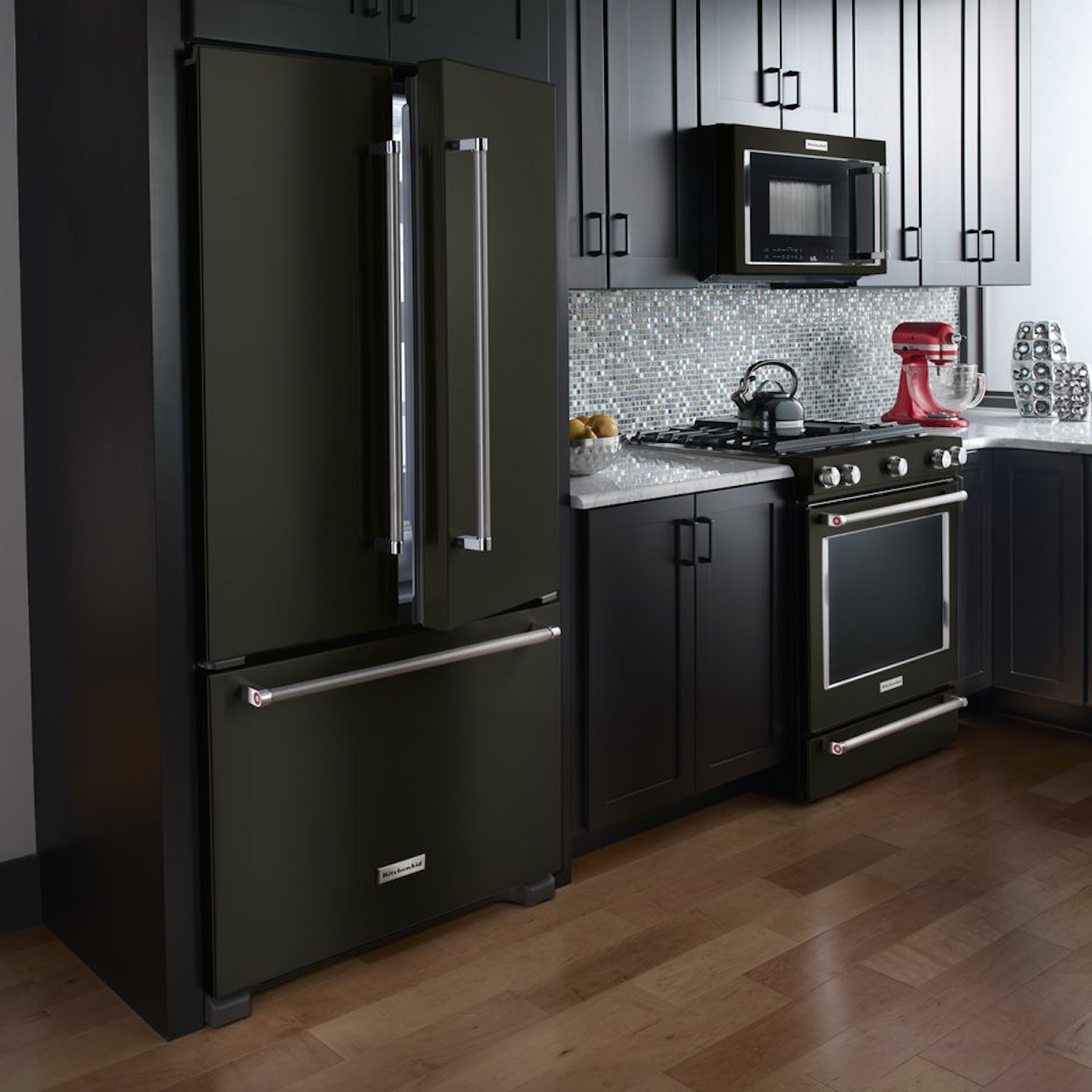 Kitchen Aid Range Black Stainless