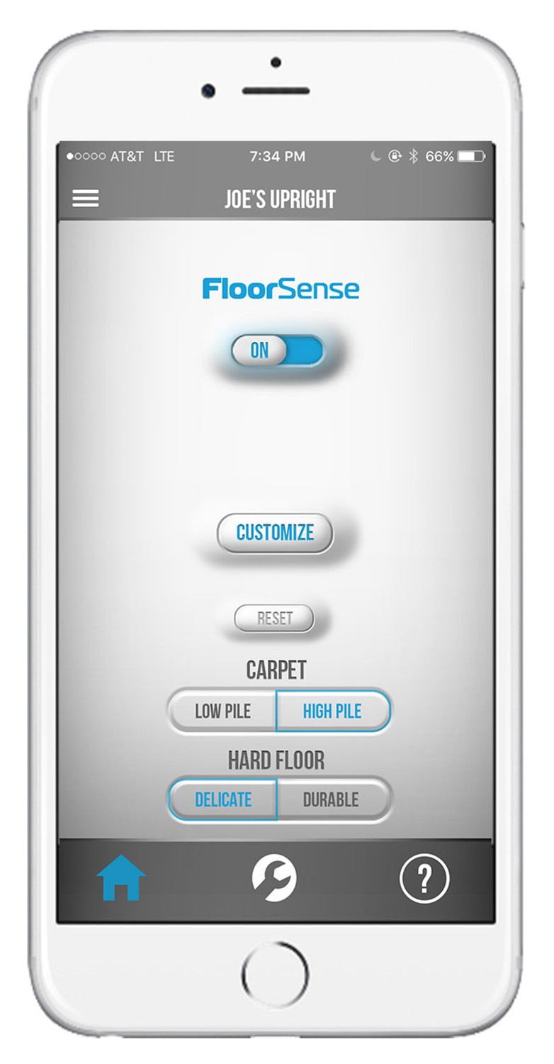Customize FloorSenseTM Settings