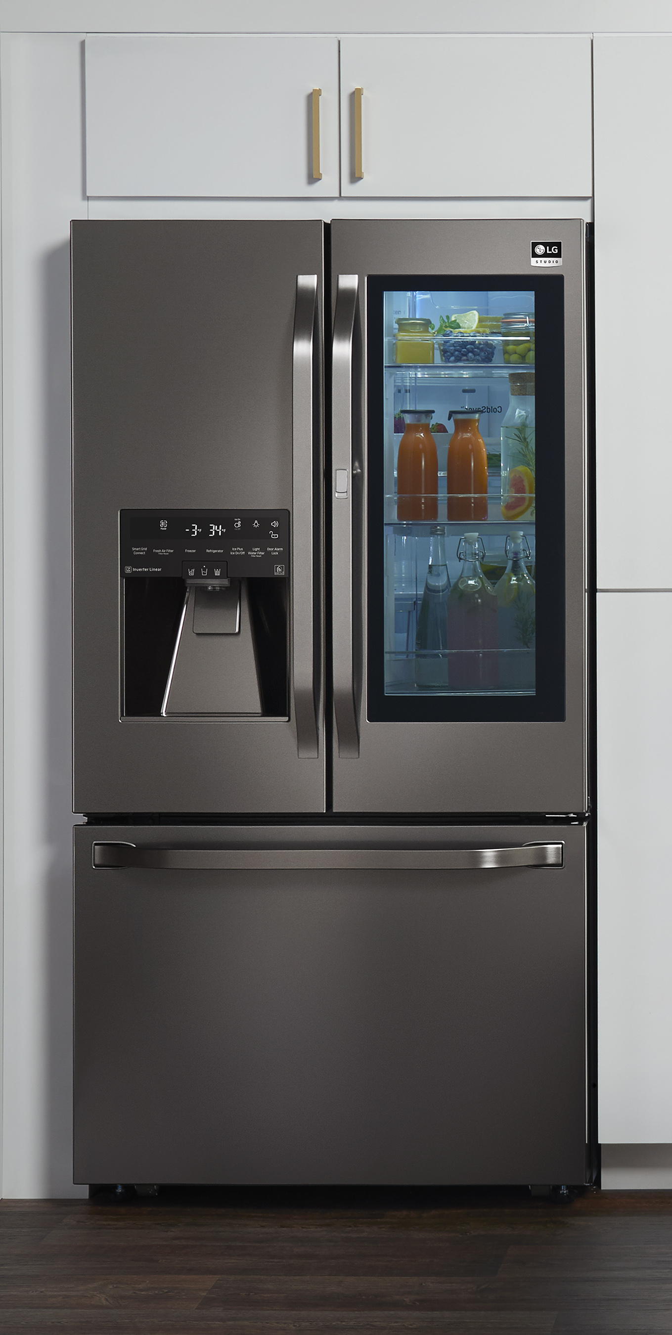 Uncategorized Cheap Integrated Kitchen Appliances lg debuts expanded nate berkus inspired studio 2017 appliance built in kitchen vignette