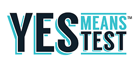 YES means TEST logo