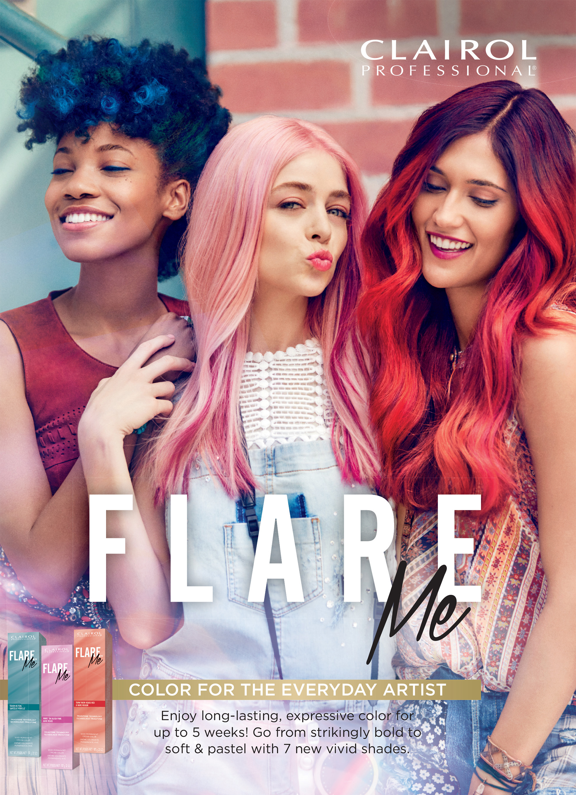 Clairol Professional Launches Permanent Vivid Hair Color