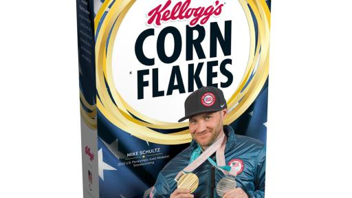 Mike Schultz on Gold Medal Edition Corn Flakes Box