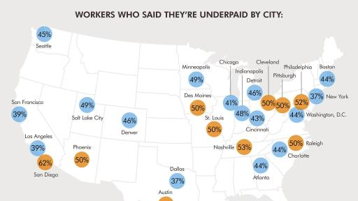 Infographic: U.S. Workers sound off on wages map