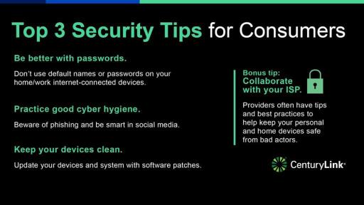 Top 3 Security Tips for Consumers Infographic