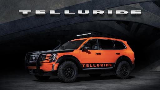 Side view of an orange Telluride