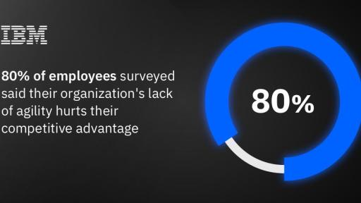80% of employees believe their organization's lack of agility hurts their competitive advantage to some extent – IBM Institute for Business Value