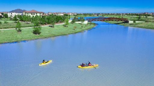 Bridgeland features 400 acres of parks and 900 acres of lakes, including Josey Lake.