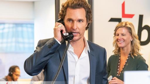 Matthew McConaughey answers phones for BGC Charity event
