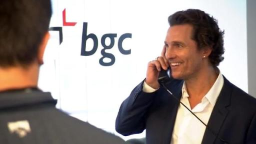 B-Roll Footage of BGC Charity Day including celebrities Matthew Mcconaughey, Gene Simmons, and Liev Schreiber.
