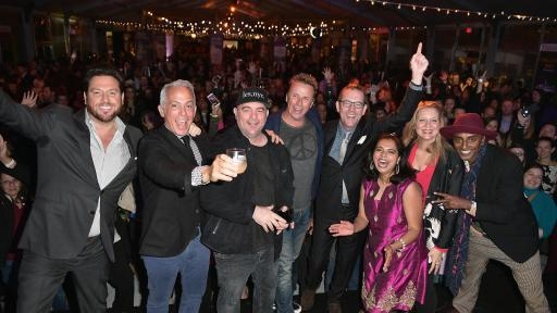 Cast of Food Network's Chopped enjoying NYCWFF