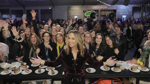 Giada De Laurentiis standing in front of crowd at NYCWFF