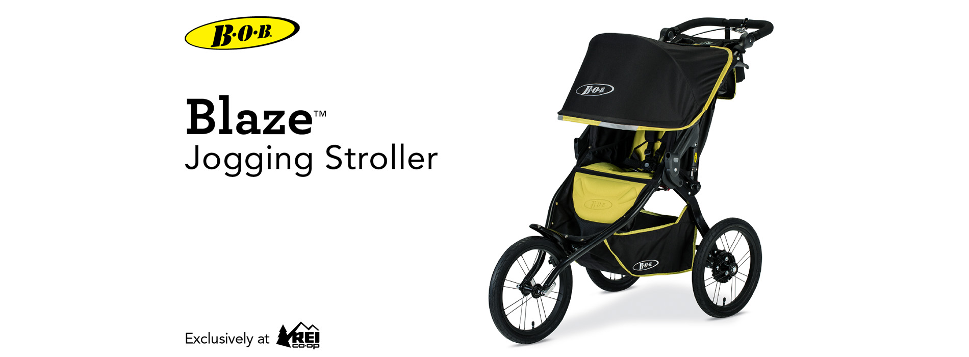 Black and yellow Blaze Jogging Stroller