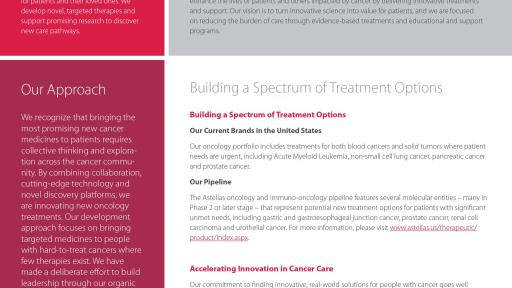 Astellas Oncology Fact Sheet