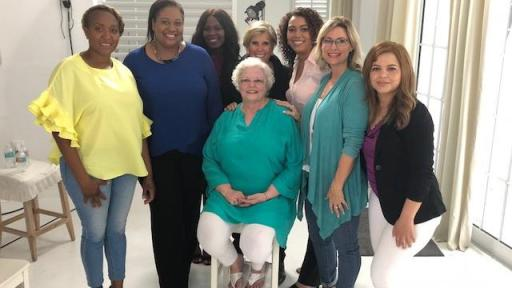Group photo of women featured in special video series
