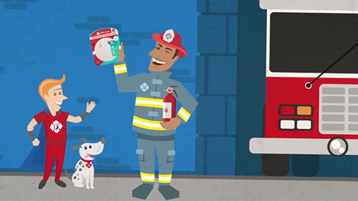 Play Video: 3 of 5 fire deaths result from fires in homes without working smoke alarms.