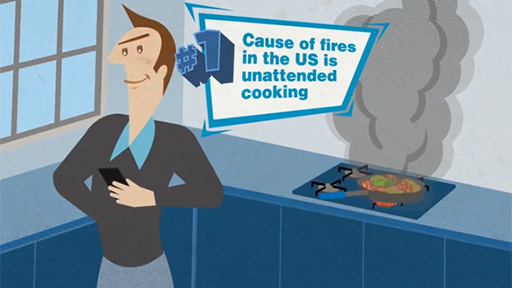 Play Video: The #1 leading cause of house fires is unattended cooking.