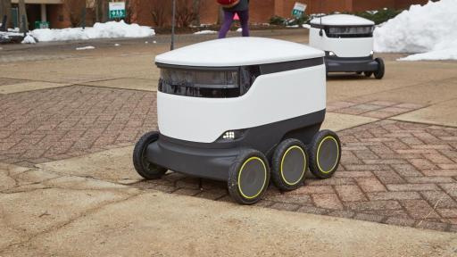 Sodexo and Starship Technologies delivery robot