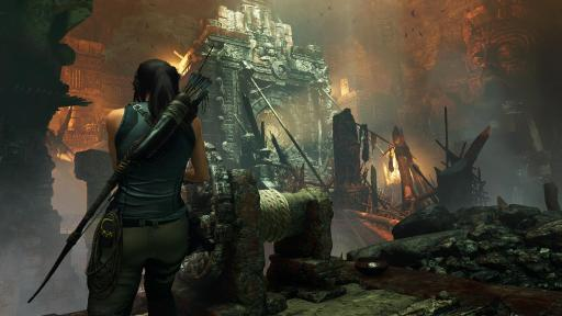 Shadow of The Tomb Raider video game scene