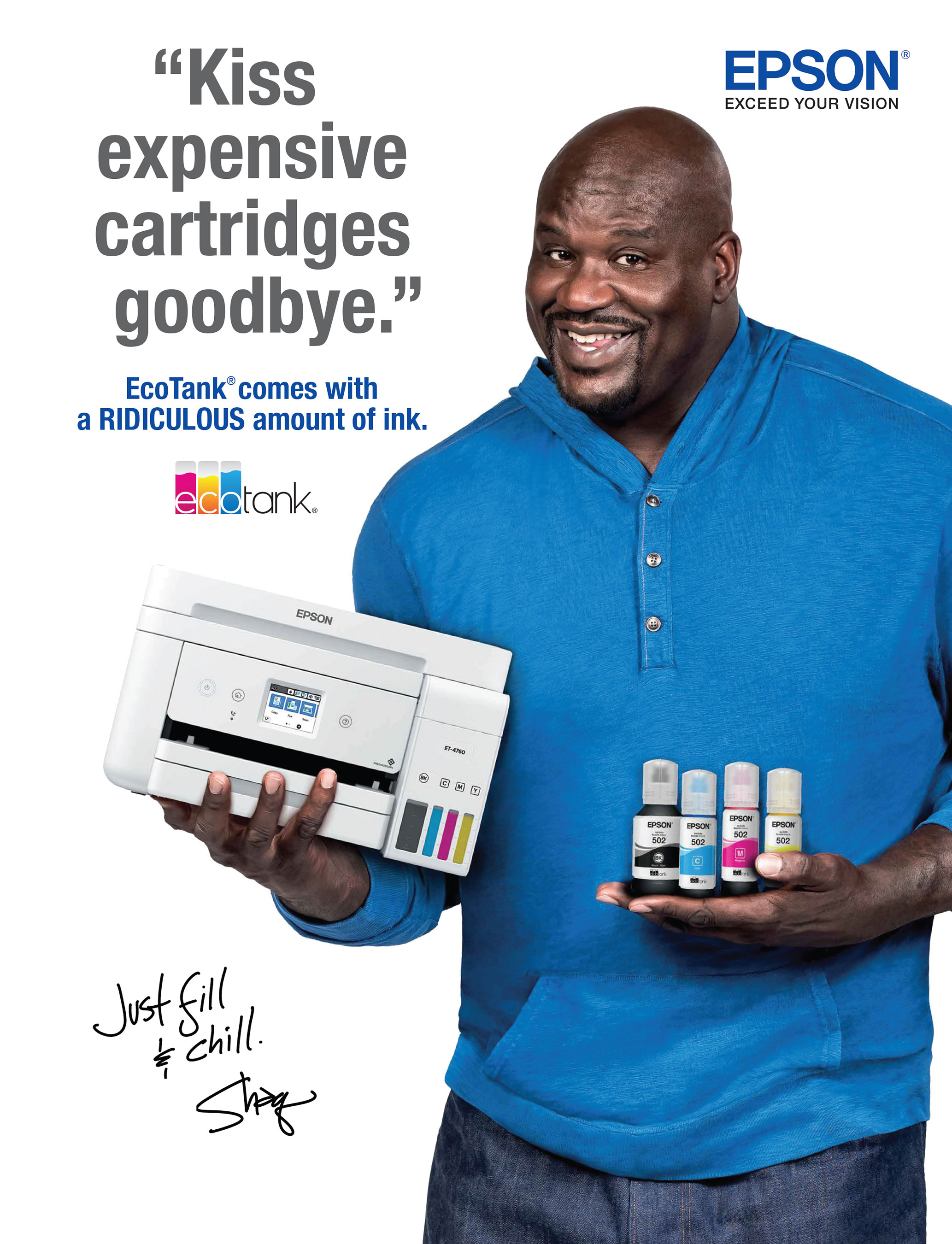 Epson and Shaquille O'Neal Join Forces to Empower Customers