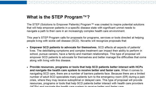 STEP Program 2018 Backgrounder