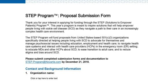 STEP Program 2018 Submission Form