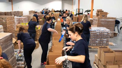 To kick off this year's campaign, Dean Foods employees volunteered at the North Texas Food Bank in October to help provide meals to those in need.