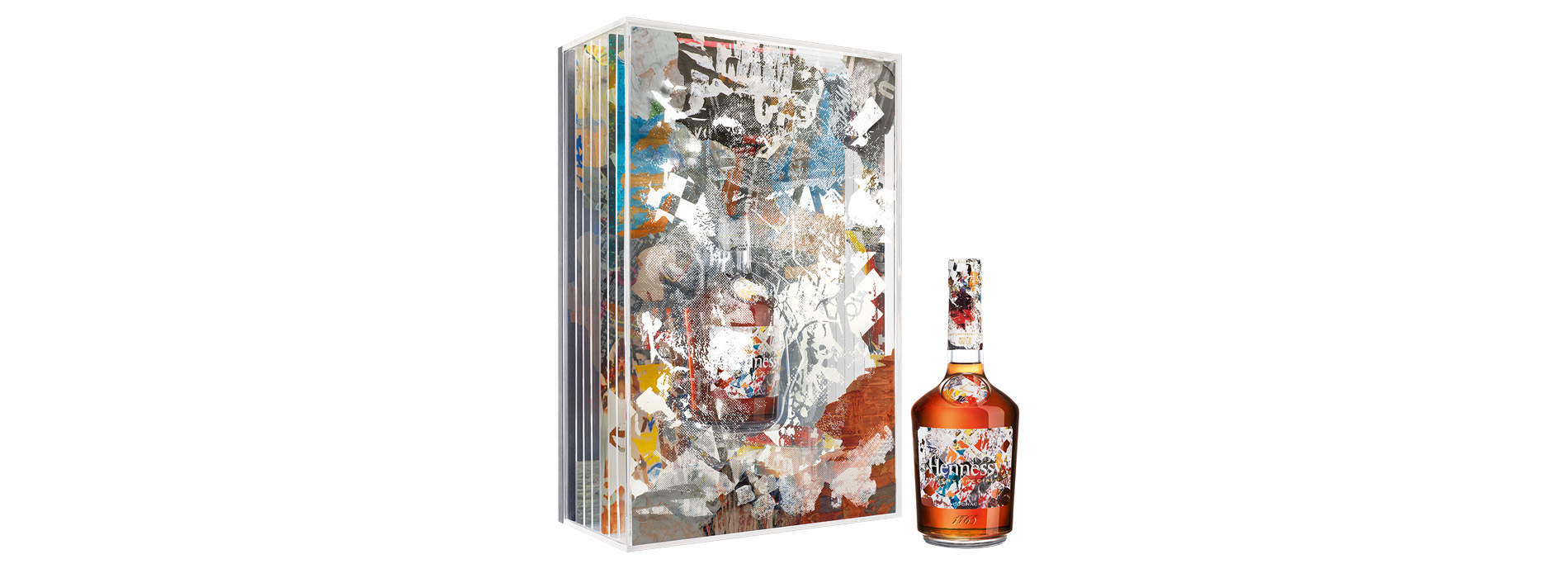 Hennessy bottle design Edition By Vhils