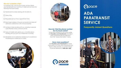 This FAQ is a great guide for anyone curious about learning more about Pace's accessible services