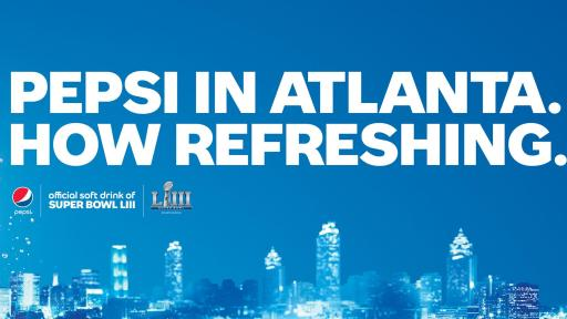 Pepsi advertising throughout Atlanta