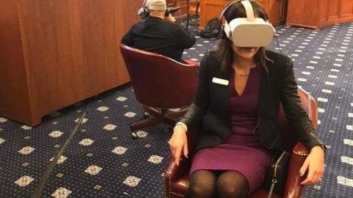 Members of Congress wearing oculus in the Ways and Means Hearing Room