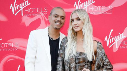 Singer-songwriter Ashlee Simpson Ross and actor and musician Evan Ross on the red carpet