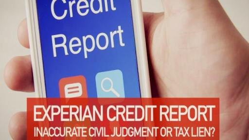 "Phone being held that says ""Credit Report"" on screen"