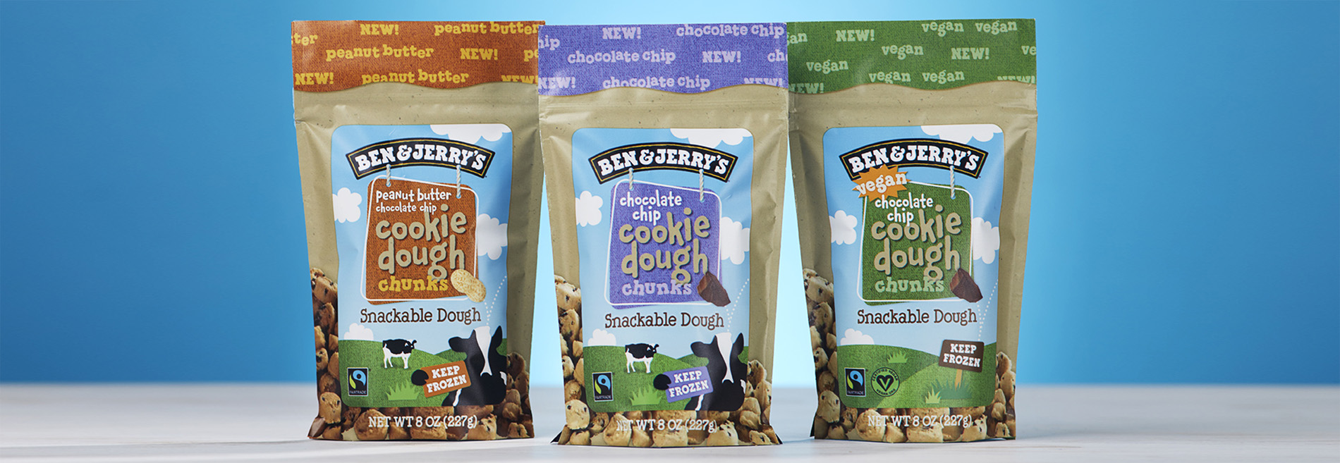 Flavors of Ben & Jerry's new cookie dough chunks