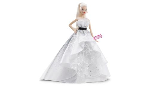 Barbie in white dress
