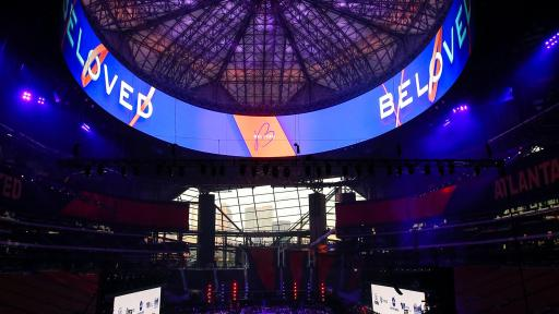 More than 2,000 Atlantans gathered to cultivate sustainable change on the city's westside at the inaugural Beloved Benefit at Mercedes-Benz Stadium on Thursday, March 21, 2019, in Atlanta.