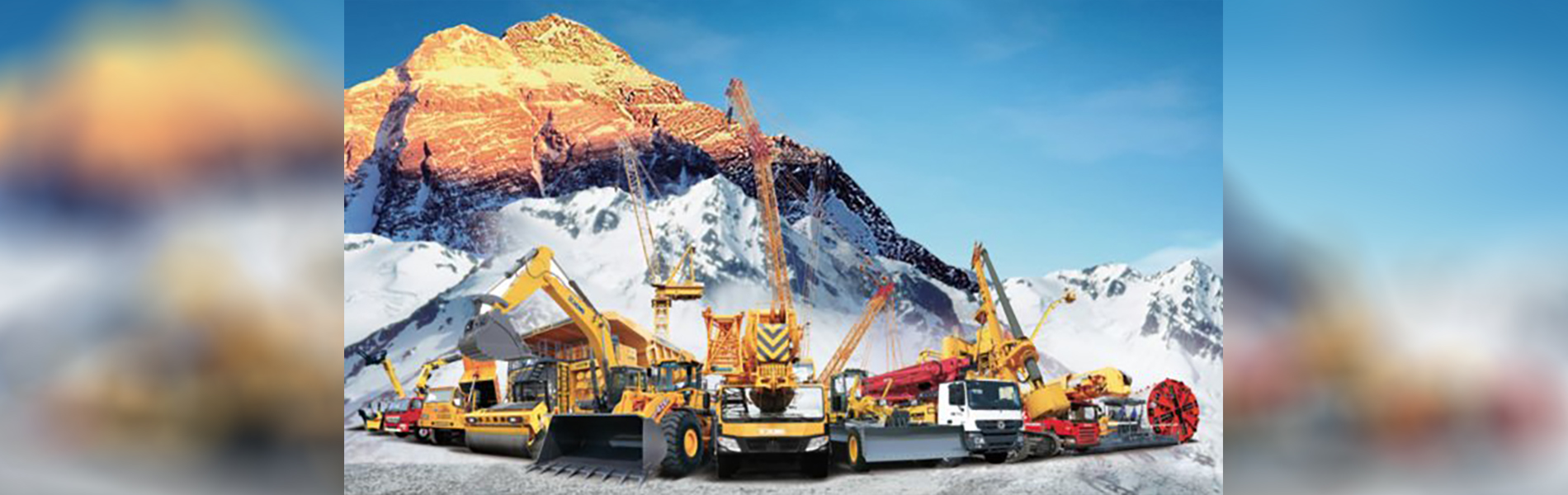 Banner image of a fleet of construction vehicles