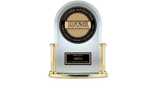 Hertz J.D. Power 2019 Customer Satisfaction Trophy