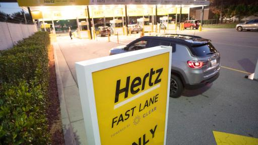 Hertz Fast Lane at the airport.
