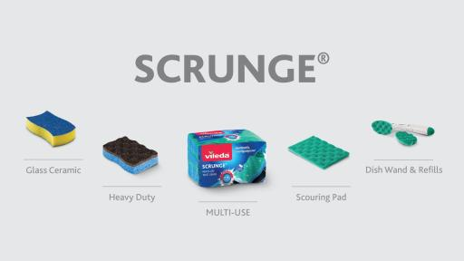 Visit Vileda.ca to discover the entire Scrunge family range!